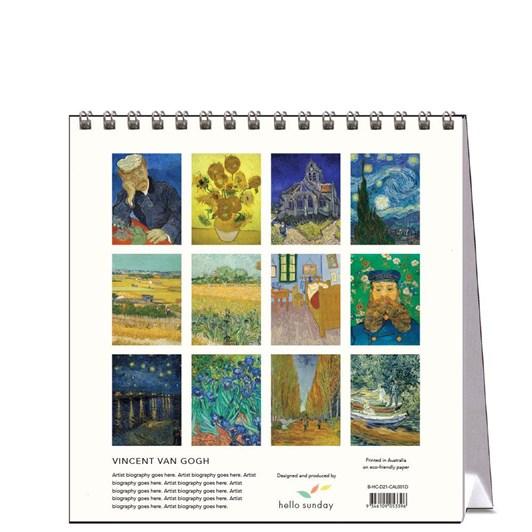 Hello Sunday Vincent Van Gogh Desk Calendar