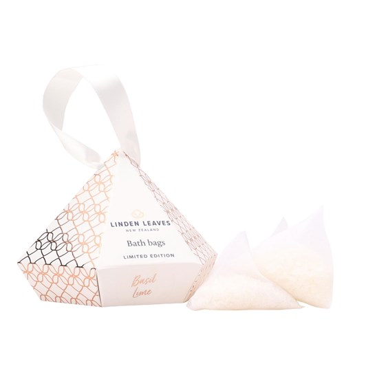 Linden Leaves Limited Edition Basil Lime Bath Bags Giftset 3 X 25G