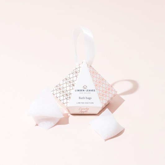 Linden Leaves Limited Edition Candy Apple Bath Bags Giftset 3 X 25G