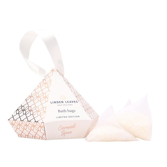 Linden Leaves Limited Edition Caramel Spice Bath Bags Giftset 3 X 25G
