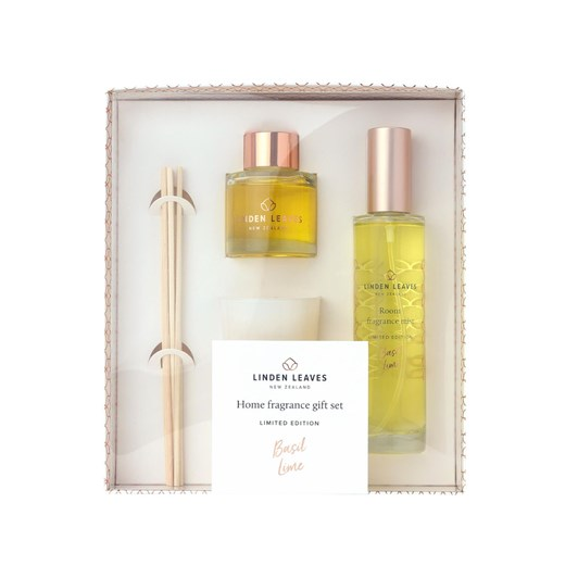 Linden Leaves Limited Edition Basil Lime Home Fragrance Giftset