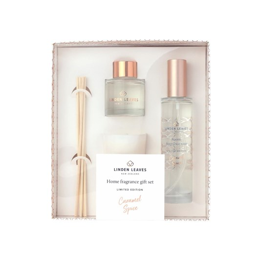 Linden Leaves Limited Edition Caramel Spice Home Fragrance Giftset