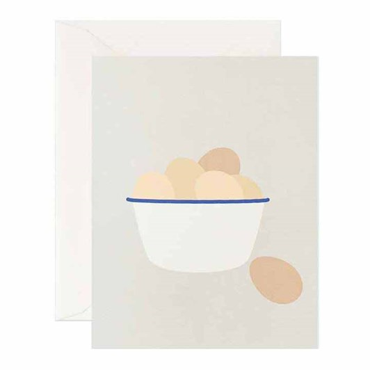 Father Rabbit Stationery Eggs In Enamel Card
