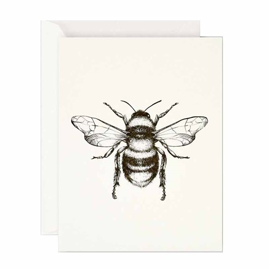 Father Rabbit Stationery Bumble Bee Card