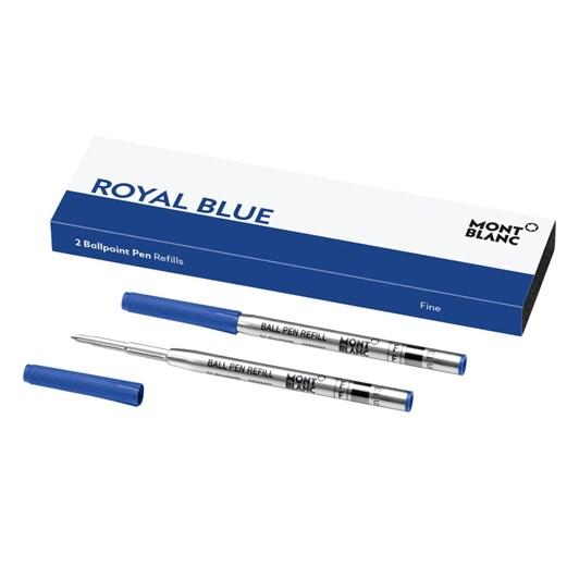 Montblanc - 2 x Ballpoint Pen Refills (F) Royal Blue
