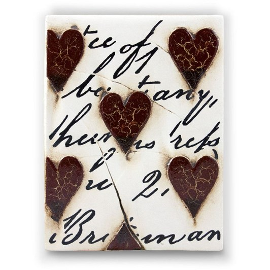 Sid Dickens Memory Block - Red Hearts with Script