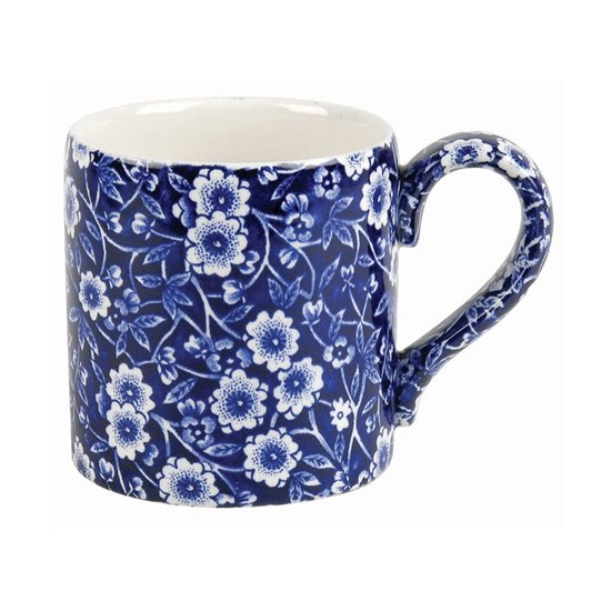 Burleigh Dark Blue Calico Mug Plain 284ml