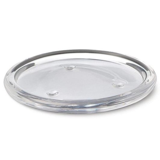 Waxglo Round Glass Plate with Candle Stand 110mm