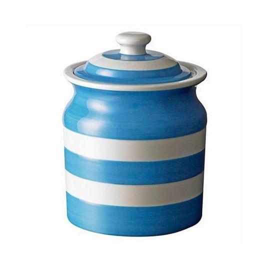 Cornish Blue Small Storage Jar 30oz