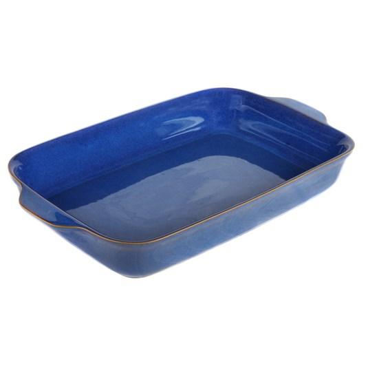 Denby Imperial Blue Oblong Dish 34cm