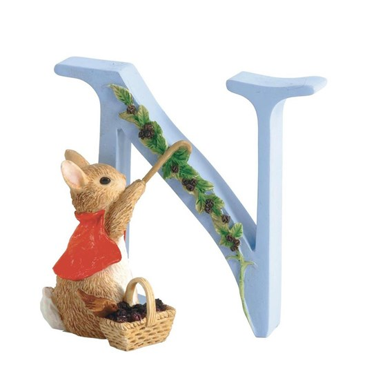Beatrix Potter Alphabet N - Cotton Tail