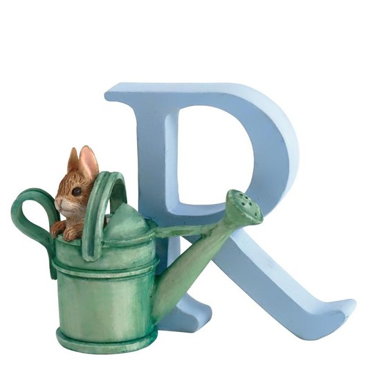 Beatrix Potter Alphabet R - Peter Rabbit in Watering Can