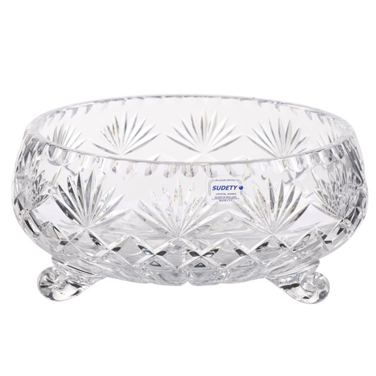 Irena Footed Crystal Bowl 23cm