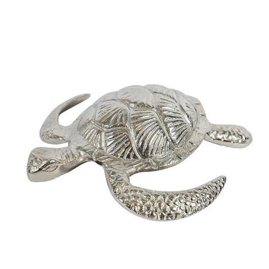 French Country Turtle Décor Silver