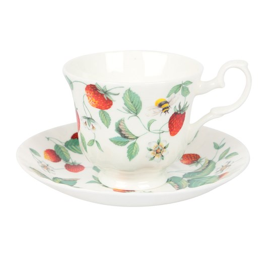 Roy Kirkham Alpine Strawberry Tea Cup and Saucer