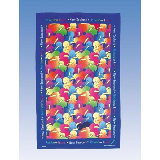 Derek Tea Towel - Rainbow Kiwi