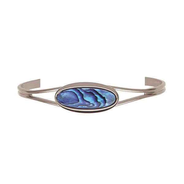 Ariki - Paua Bangle palladium plated -