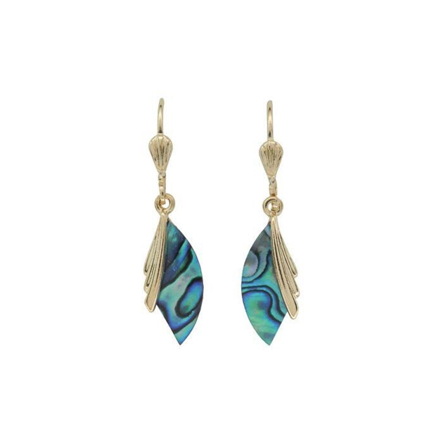 Ariki Palladium Paua Earrings -