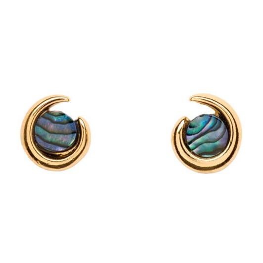 Ariki Gold Paua Earrings
