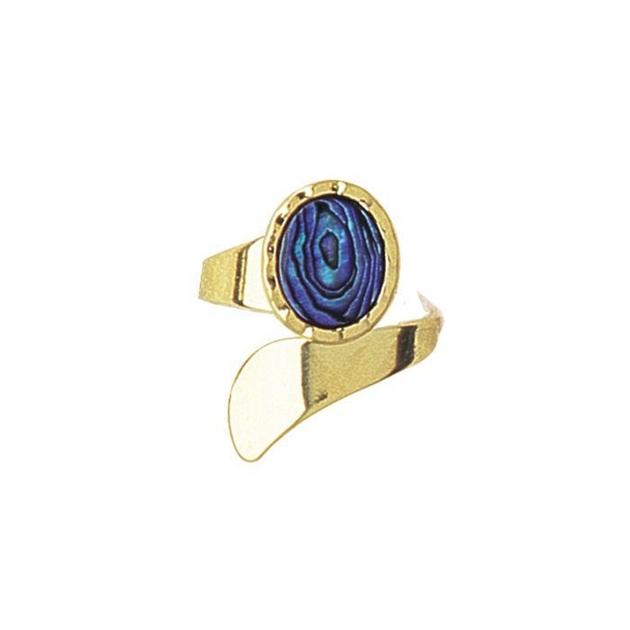 Ariki Gold Paua Dress Ring -