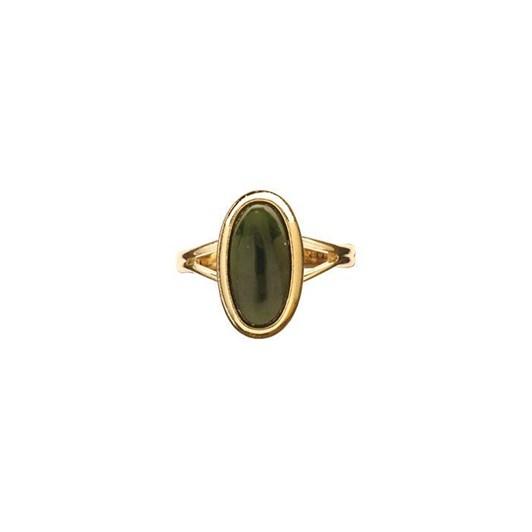 Ariki Gold Greenstone Dress Ring
