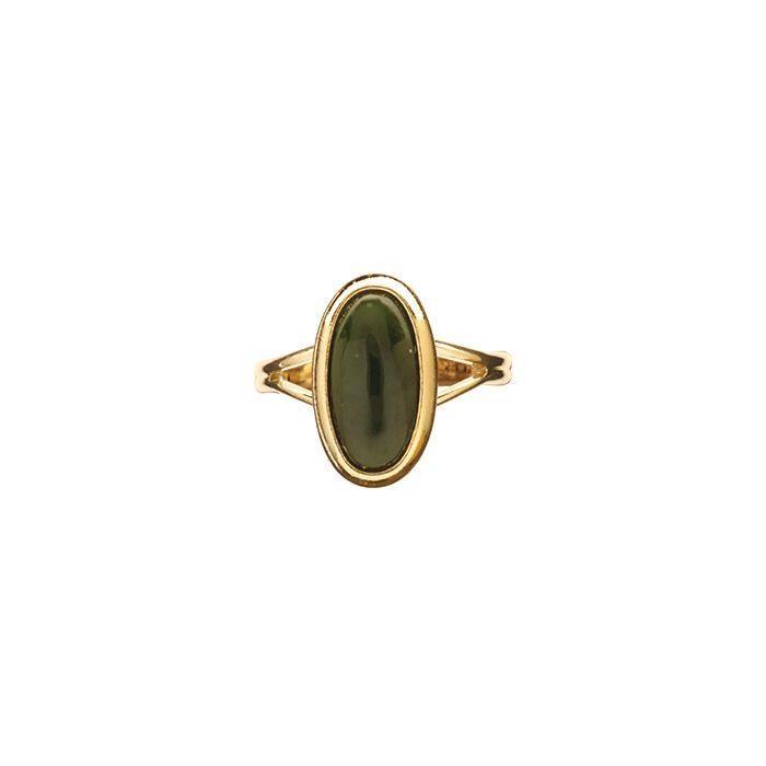 Ariki Gold Greenstone Dress Ring -