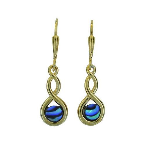 Ariki Gold Paua Earrings -