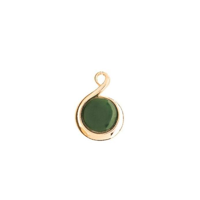 Ariki Gold Greenstone Pendant gold