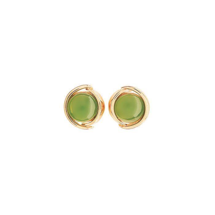 Ariki Greenstone Earrings -