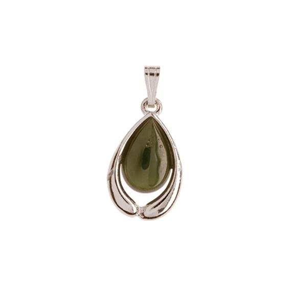 Ariki Silver Greenstone Pendant -