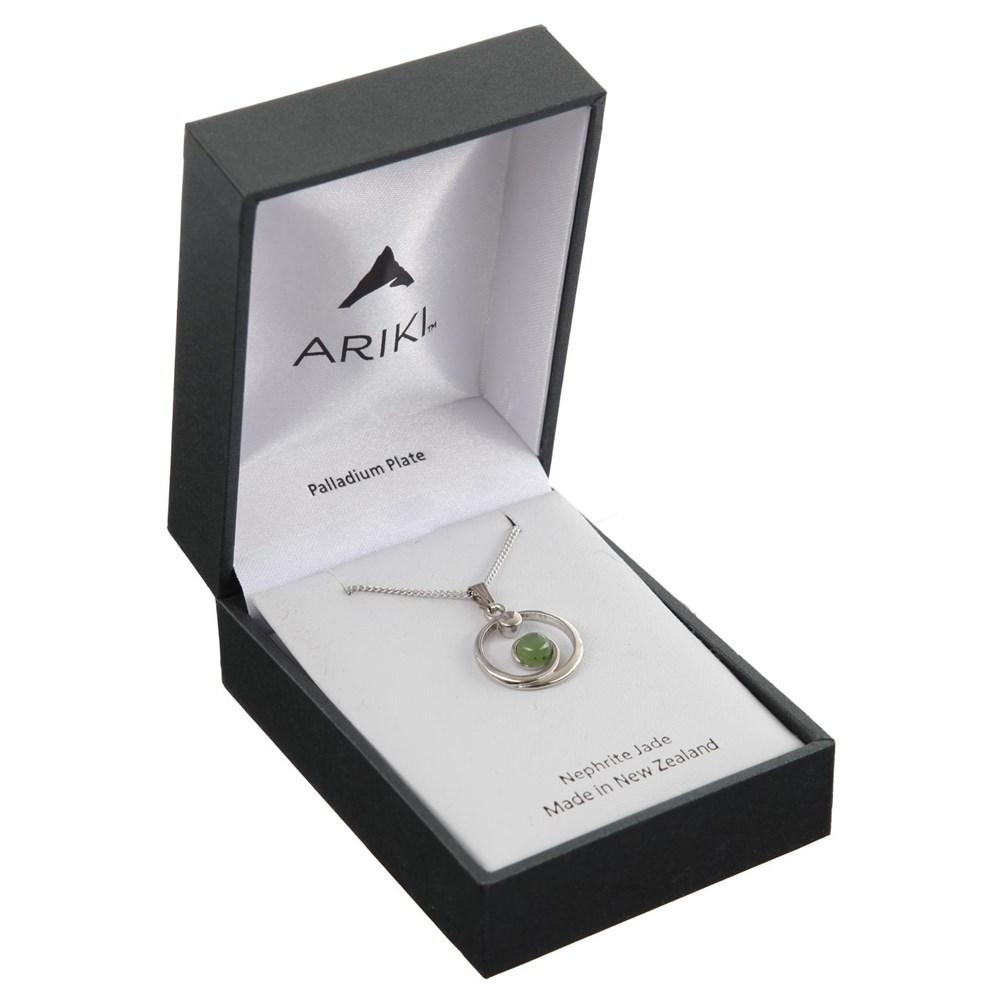 Ariki Greenstone Pendant silver