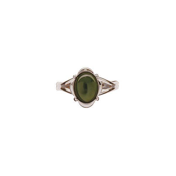 Ariki Palladium Greenstone Dress Ring -