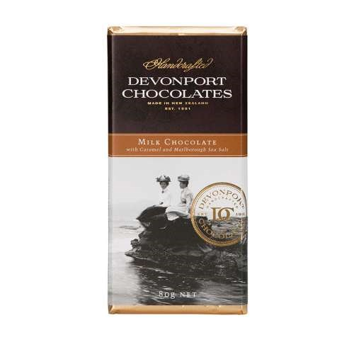 Devonport Chocolates Milk Chocolate With Salted Caramel And Marlborough Sea