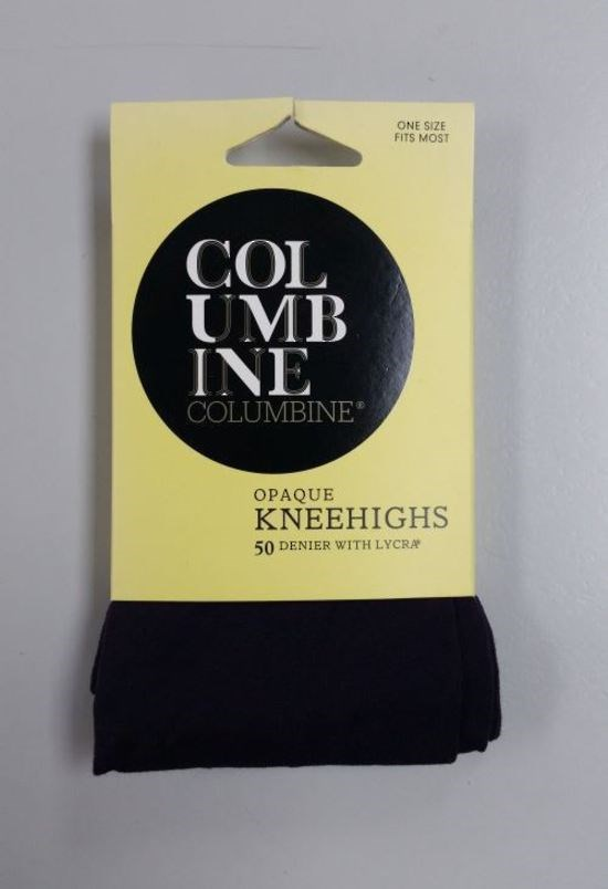 Columbine 50 Denier Opaque Knee Highs - black