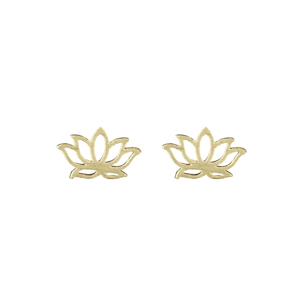 Short Story Disney Earring Jasmine Lotus Gold -