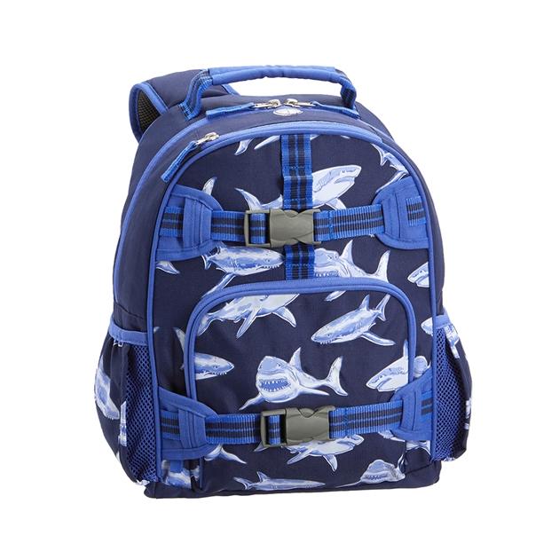 Pottery Barn Kids Mackenzie Backpack Blue Sharks Gid -