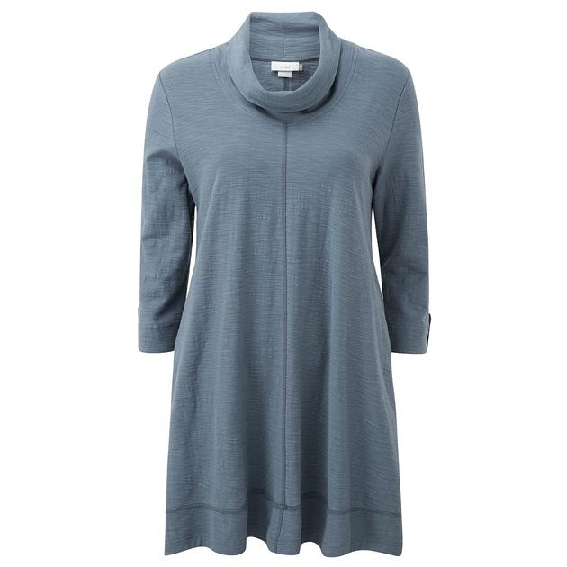 Adini Jodie Solid Cotton Slub Tunic -