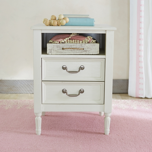 Pottery Barn Kids Blythe Nightstand French White Wb -