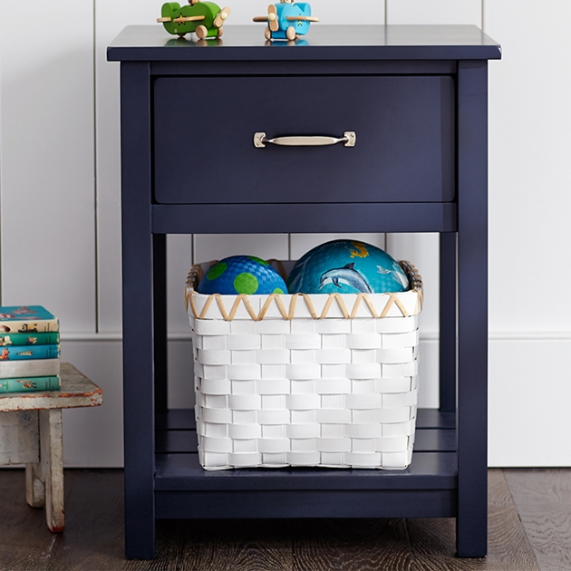 Pottery Barn Kids Camp Nightstand Navy Wb -
