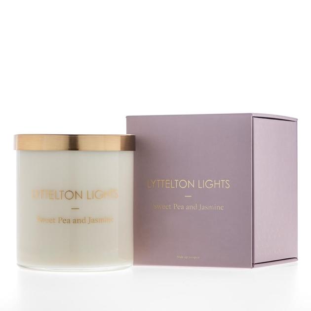 Lyttelton Lights Sweet Pea And Jasmine Candle -