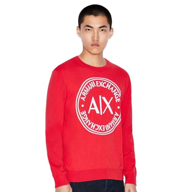 Armani Exchange Oversized Logo Sweater -
