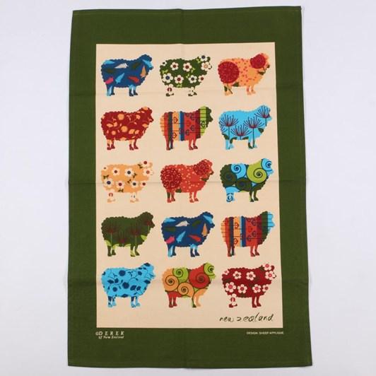 Derek Tea Towel - Sheep Applique