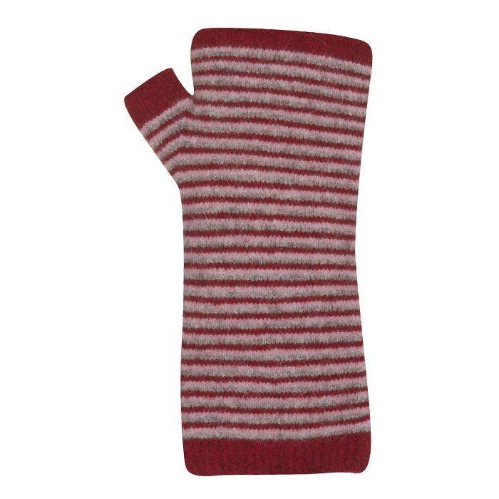 Native World Striped Wrist Warmers - 6519 - berry