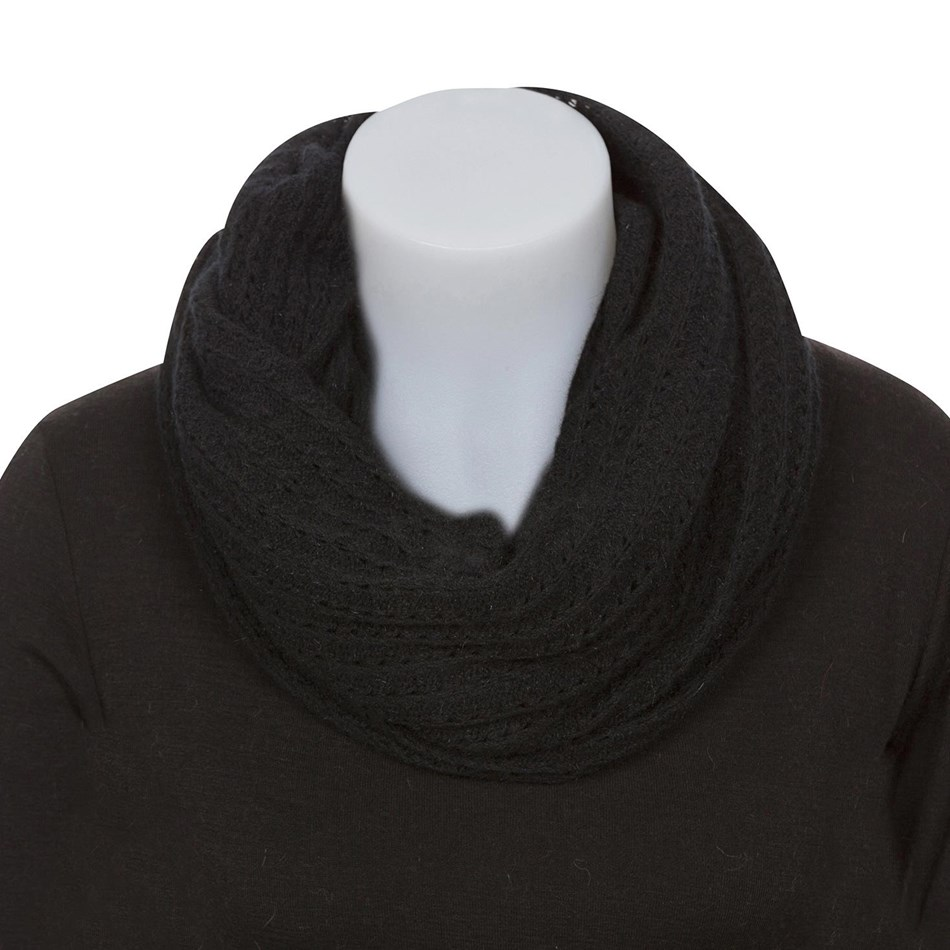 Native World Lace Endless Scarf - 010 - black
