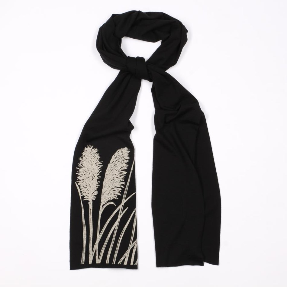 Jill Main Toi Toi Print Scarf With Raw Edge -