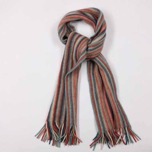 Native World Multi Striped Scarf