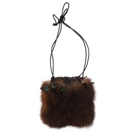 Rozcraft Possum Drawstring Bag with Feather Trim
