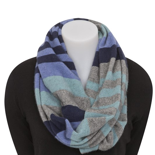 Native World 4Tone Block Colour Loop Scarf