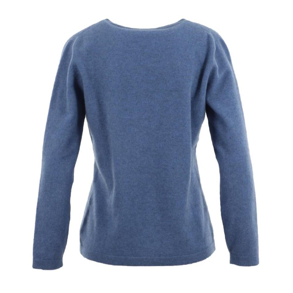 Native World Ladies Round Neck Plain Sweater -