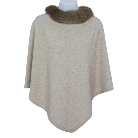 Native World Ladies Possum Trim Poncho